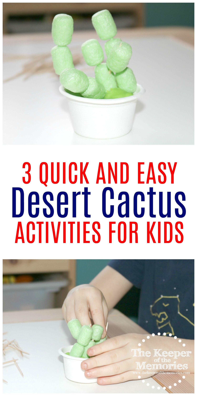3 Quick Amp Easy Cactus Crafts Amp Activities For Preschoolers