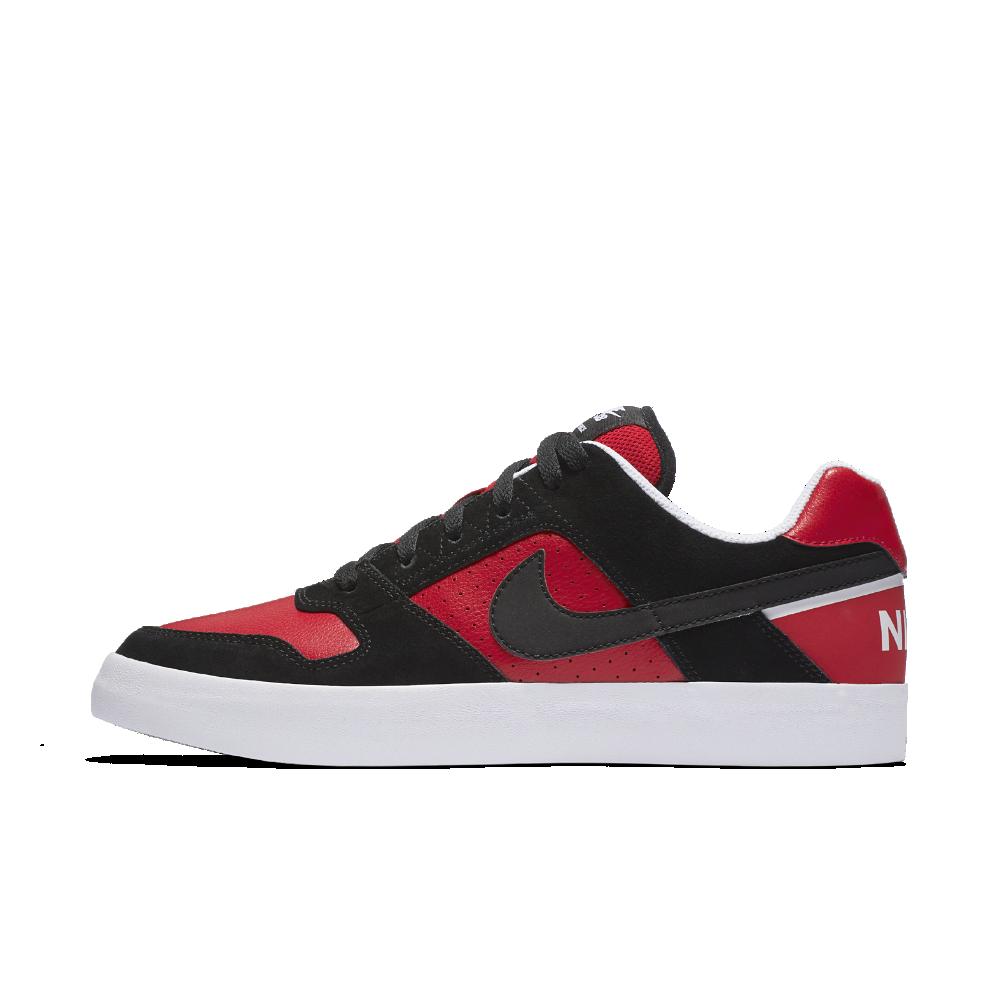 New Men's Nike SB Delta Force Vulc Size 10 Black Red White Skateboarding Shoes