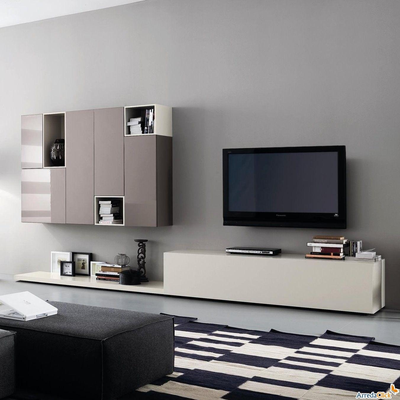 Trend Matrix moderne wei e und graue Wohnwand Lowboard mit Schubkasten Bank und Kompomposition von H ngeschr nken