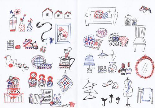 3色ボールペンで描く 乙女の手帳イラストレシピ 手帳 イラスト ボールペン イラスト イラスト