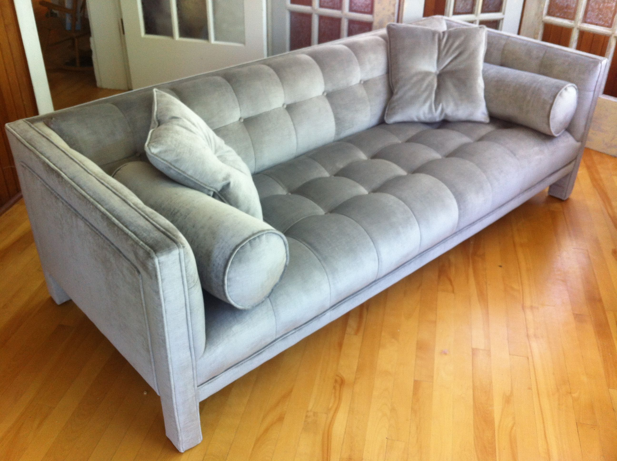 1960 s square tufted sofa pleted re upholstery mission