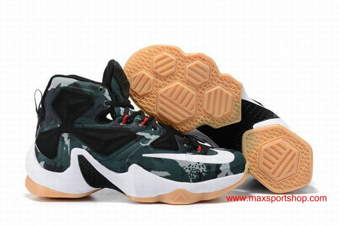 online store c6879 379b0 Nike LeBron James Personalized Limited Edition 13 Army Green ...