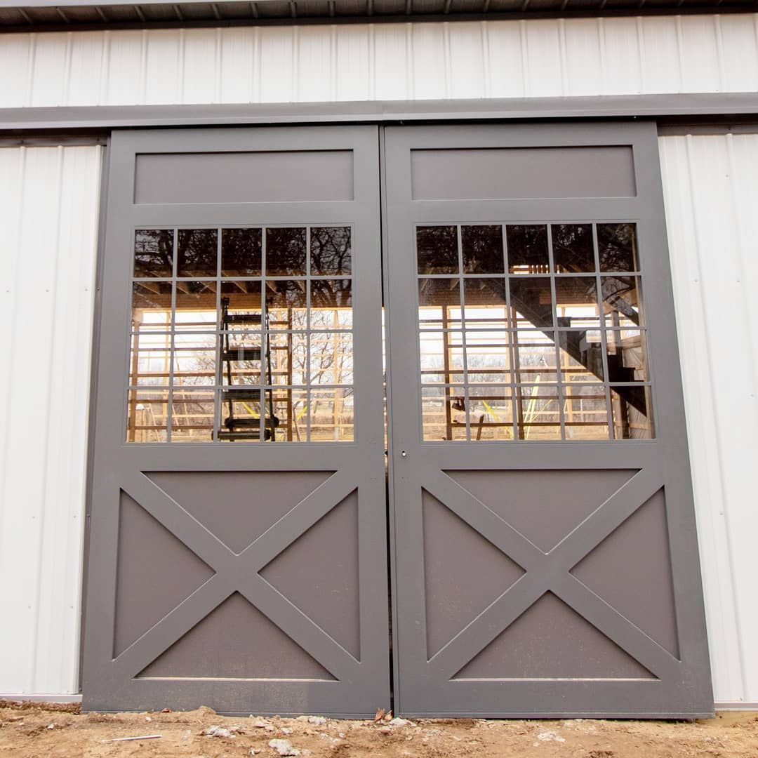 Jack Mcdonnell On Instagram Closer View Of Those Custom Silvercraft Doors On The Laporte Horse Barn The Handle Hardware Isn T On Yet B In 2020 Horse Barn Doors Barn