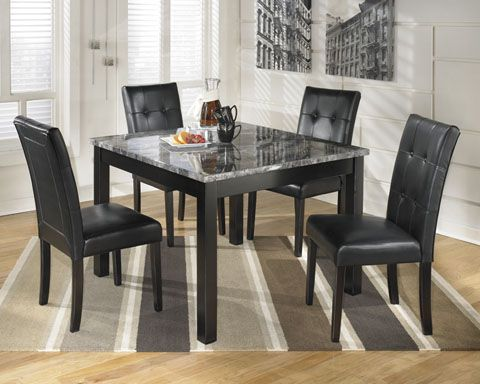 Maysville Square Dining Room Table 4 Side Chairs By Signature Design Ashley Get Your At Price