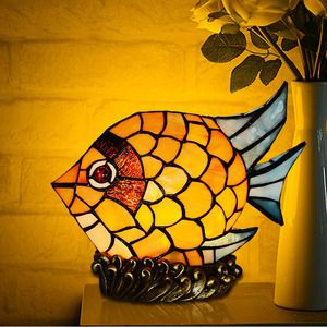 Beautiful Chic Fish Shaped Tiffany E12/E14 Kids Bedroom Lamps
