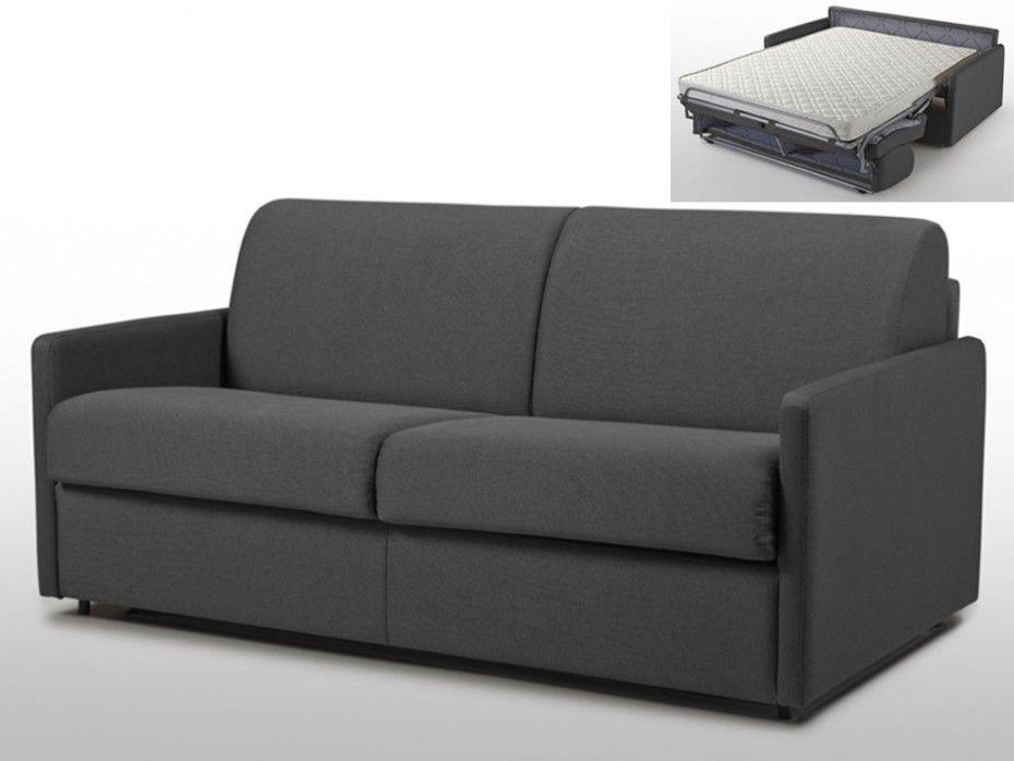 Schlafsofa 3 Sitzer Calife Stoff Grau Liegeflache 140 Cm