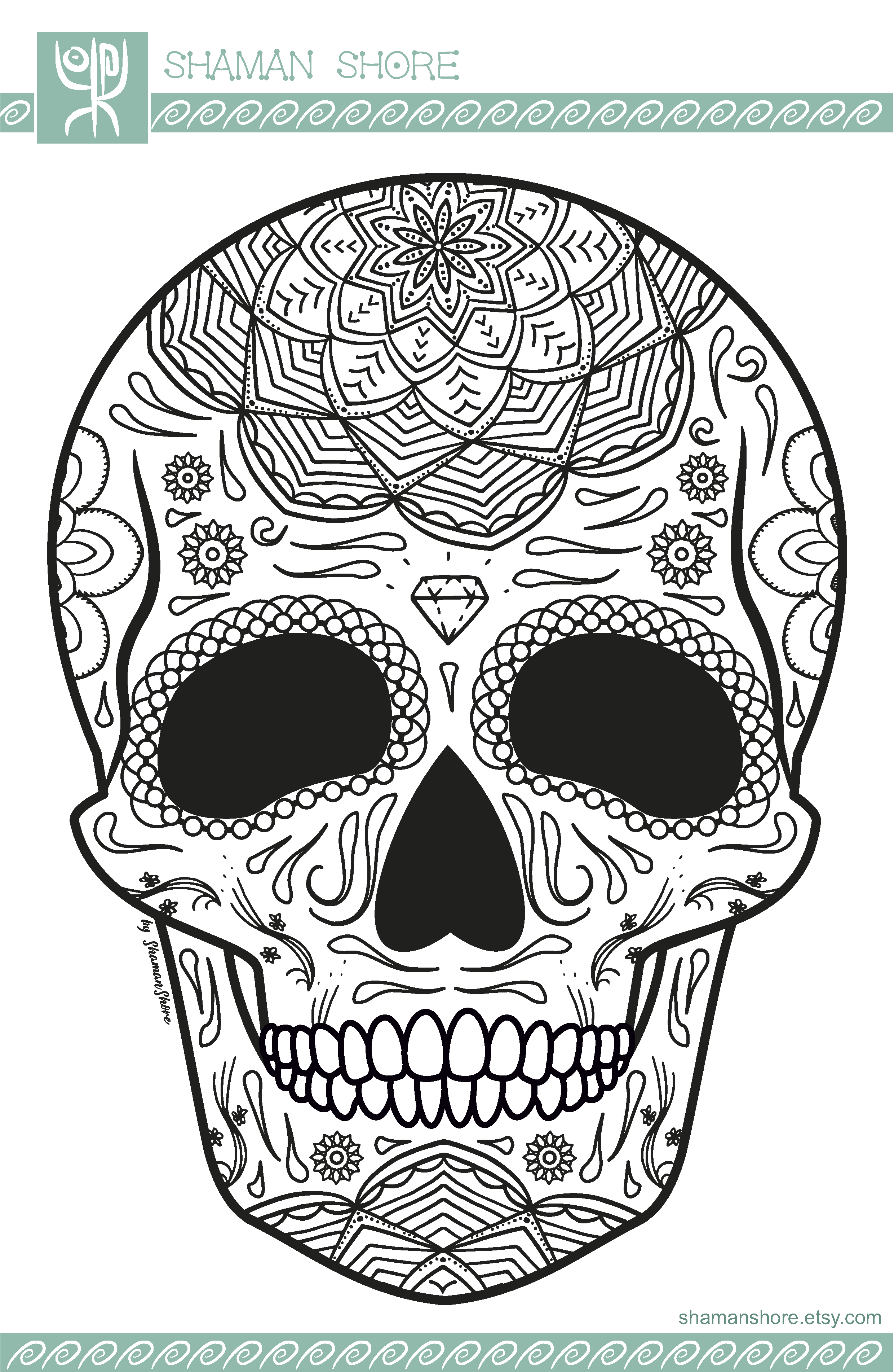 - 15 Sugar Skull Coloring Pages Printable, Mexican Day Of The Dead