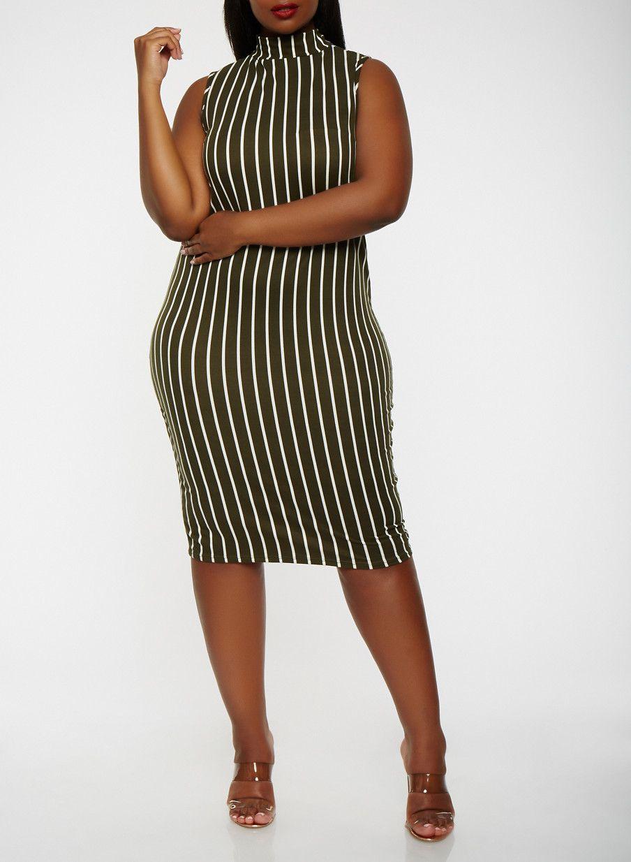Plus size striped tank dressolivelarge boss lady pinterest