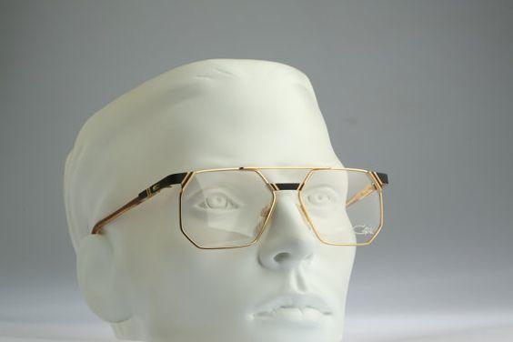 ef032cc01931 Cazal 743 302 Vintage 80s oversized square mens aviator eyeglasses ...