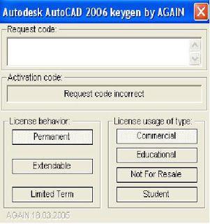 autocad 2006 full version + crack keygen free download