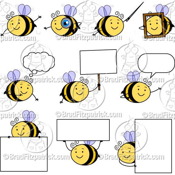 bee border clip art cute bee character clipart mascot graphics rh pinterest com Teacher Appreciation Borders Teacher Appreciation Borders