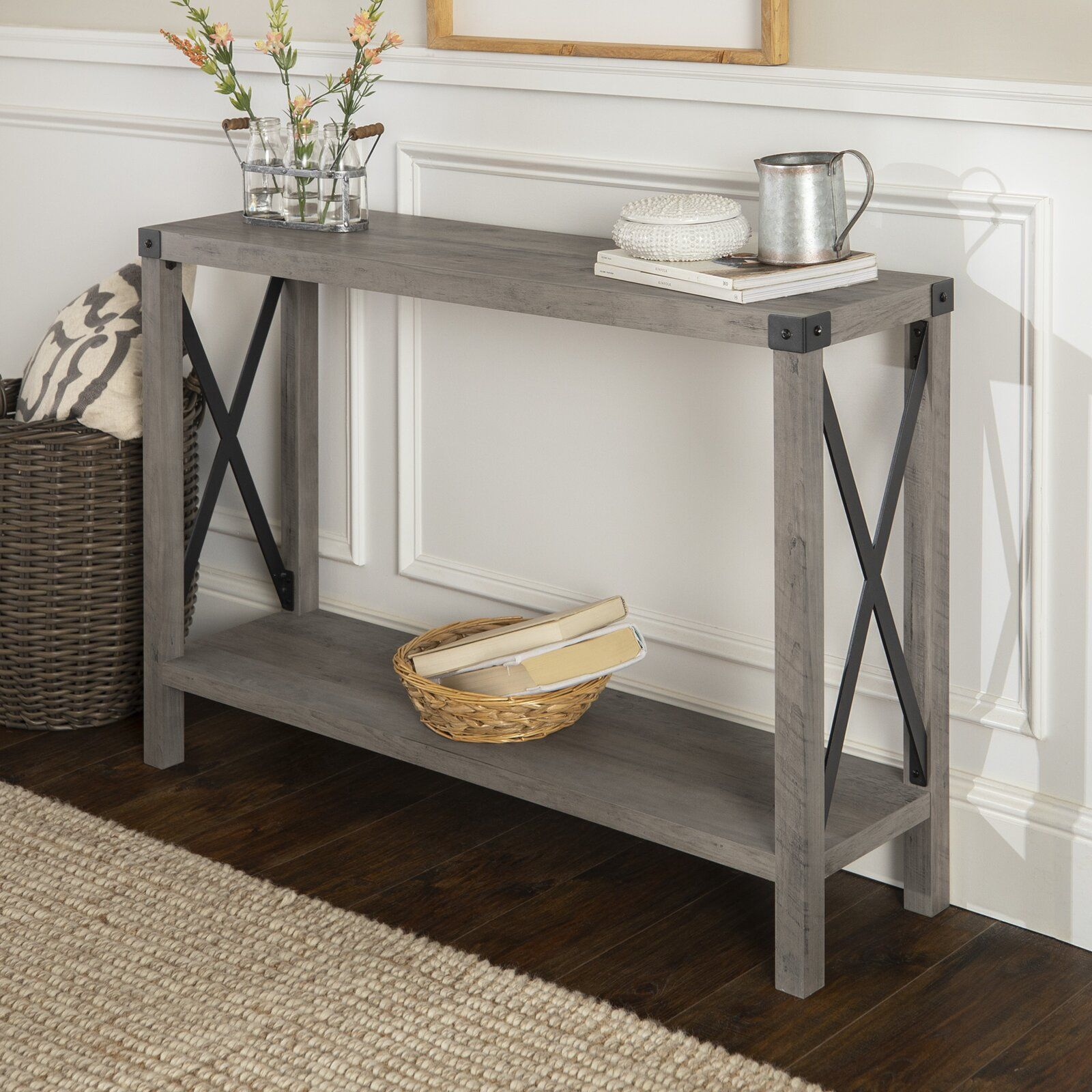 Claymont Urban 46 Console Table Wood Console Table Rustic Entryway Table Furniture