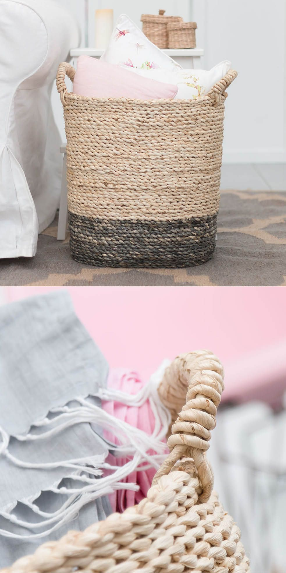 cestas de mimbre - cestas decorativas