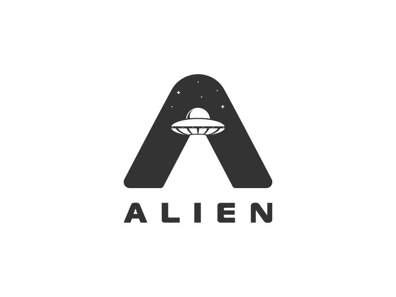 Alien Logo Typographic Logo Design Typographic Logo Typography Logo
