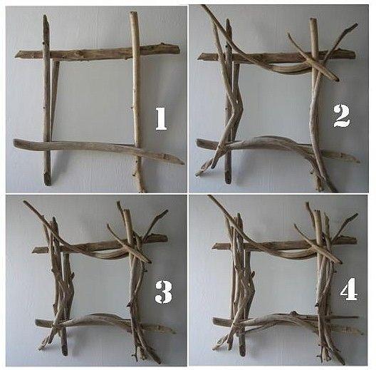 cadre bois flott brico pinterest cadres bois et miroir en bois flott. Black Bedroom Furniture Sets. Home Design Ideas