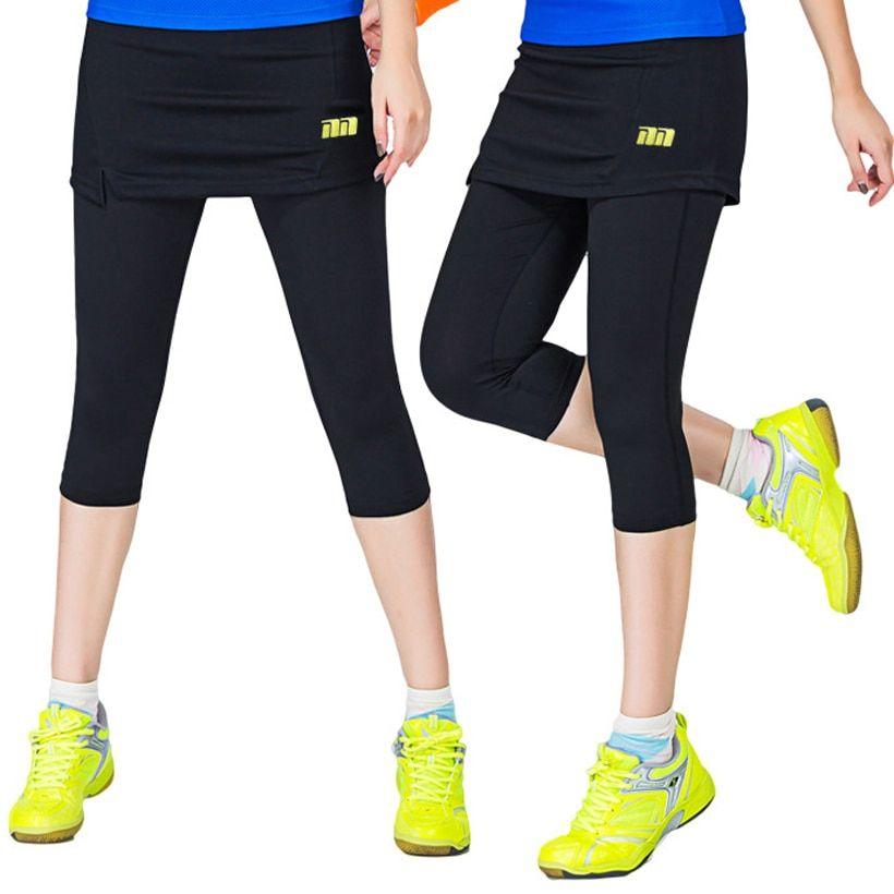 dc064561cd2f Women Badminton Dress pants One-Piece Suits Running Leggings Outdoor ...