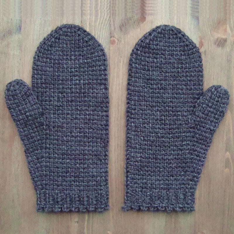 Tunisian crochet mittens - free pattern …   Pinteres…