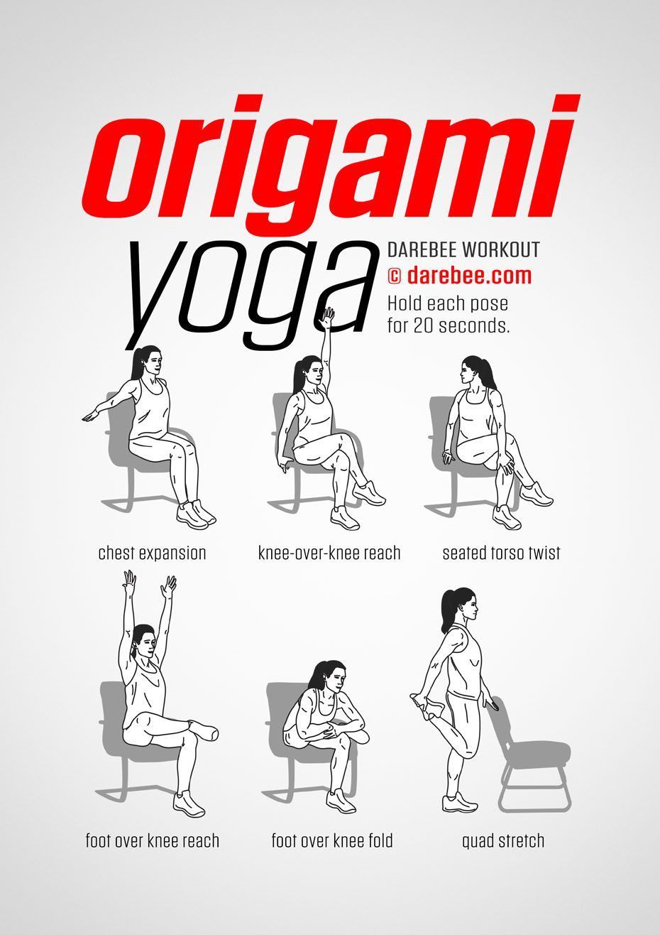 Origami Yoga Workout #ChairWorkout | Origami yoga, Workout ...