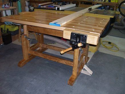 Adjustable Height Workbench Woodworking Bench For Sale