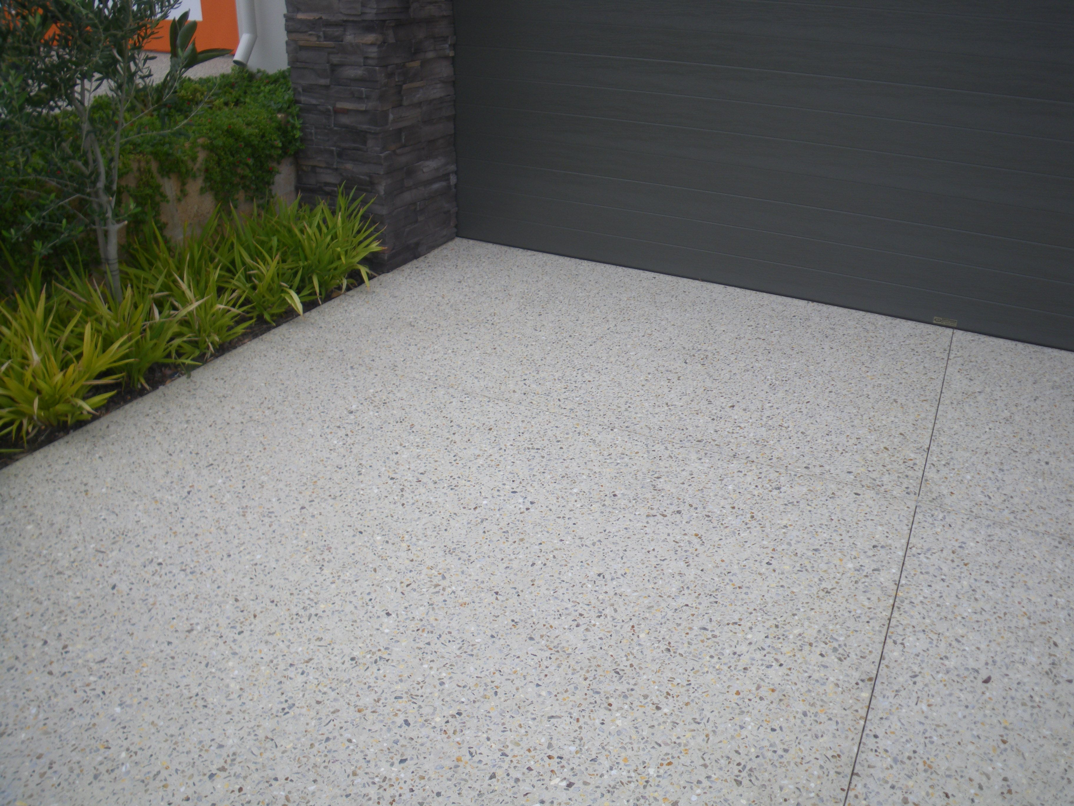Like This Look For The Driveway Exposed Aggregate Cement Driveway Outdoor Concrete Floors Cement Driveway Aggregate Driveway