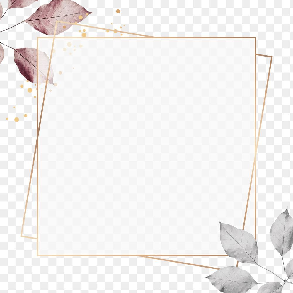 Gold Square Frame With Foliage Pattern Design Element Free Image By Rawpixel Com Gade In 2021 Design Element Instagram Frame Template Book Cover Design