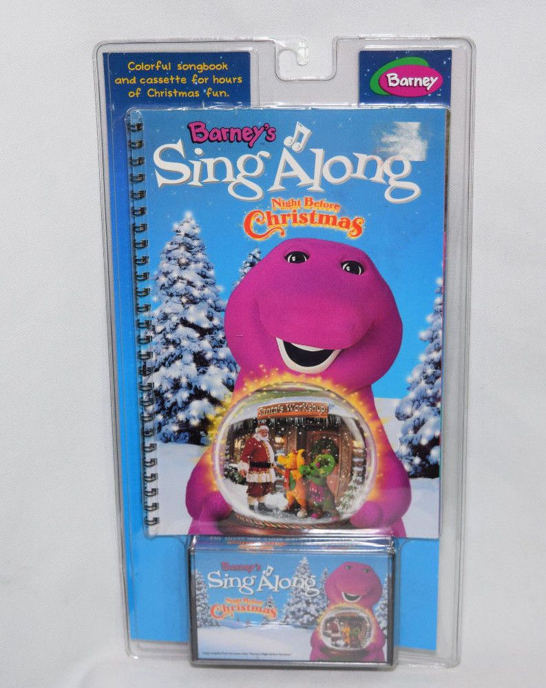 Barney the Dinosaur Kids Sing a Long Cassette Songbook Night Before ...