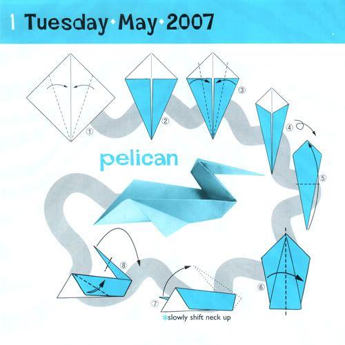 Pelican Easy I Love Origami Pinterest Origami Origami