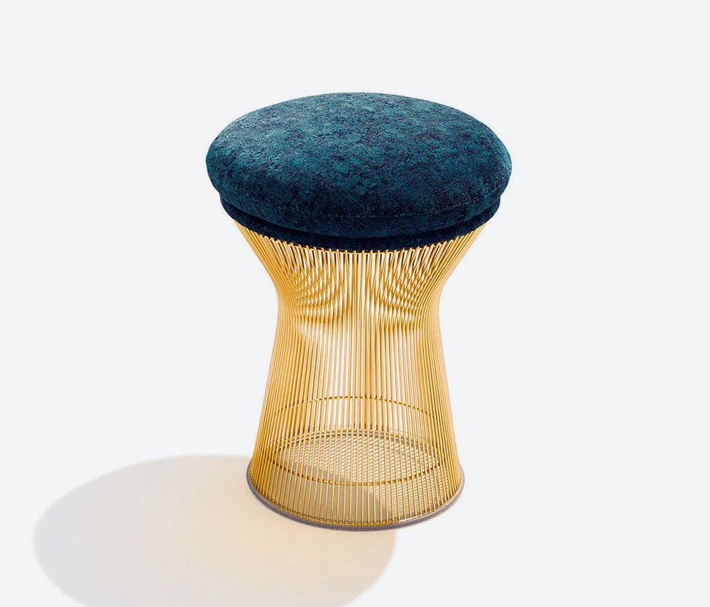 Warren Platner Gold Plated Stool for Knoll