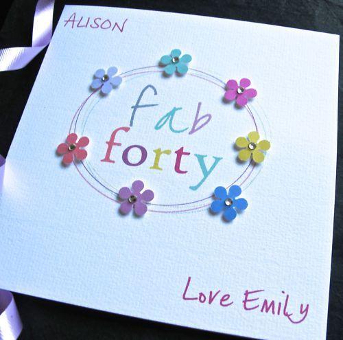 Handmade 40th Birthday Card Mum Daughter Aunt Sister 40th Birthday Cards Birthday Cards For Women Birthday Cards