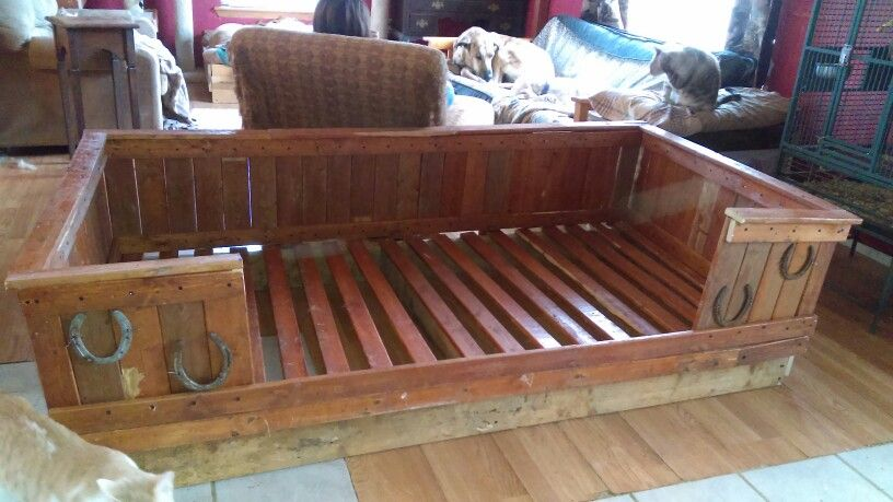 Rustic Dog Bed Fits Twin Mattress Dog Bed Spoiled Pets Rustic Dog Beds