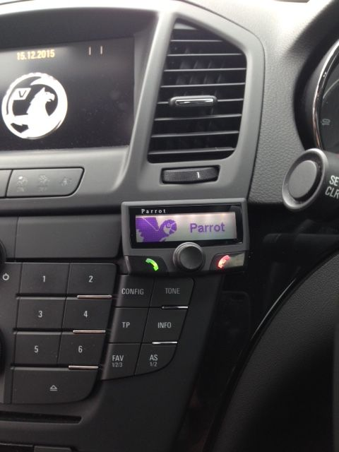 A Parrot Ck3100 Bluetooth Hands Free Car Kit Fitted To A Vauxhall Insignia Free Cars Vauxhall Insignia Kit Cars