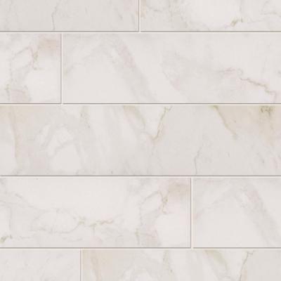 Marazzi Vitaelegante Bianco 6 In X 24 Porcelain Floor And Wall Tile 14 53 Sq Ft Case