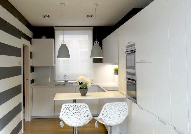 Blanco y gris, una mezcla refrescante de colores para la cocina ...