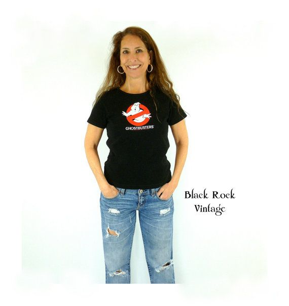 1984  Ghostbusters T-Shirt Who Ya Gonna Call C by BlackRockVintage