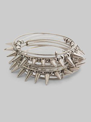 I Heart Rock Roll Spike Bracelets Alex And Ani Expandable Wire Bracelet Set Russian Silver