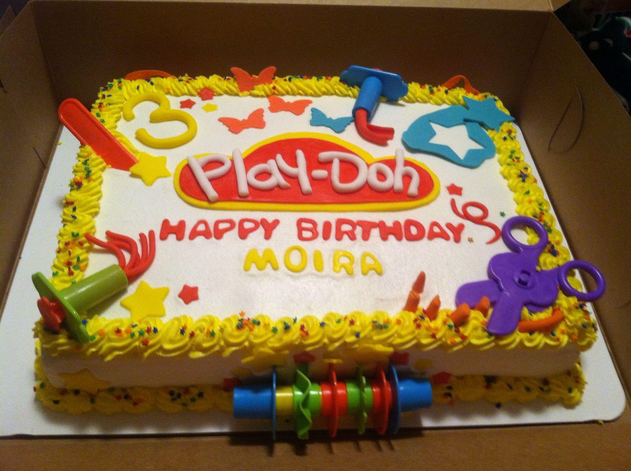 Sensational Play Doh Cake Play Doh Party Birthday Cakes Girls Kids Personalised Birthday Cards Veneteletsinfo