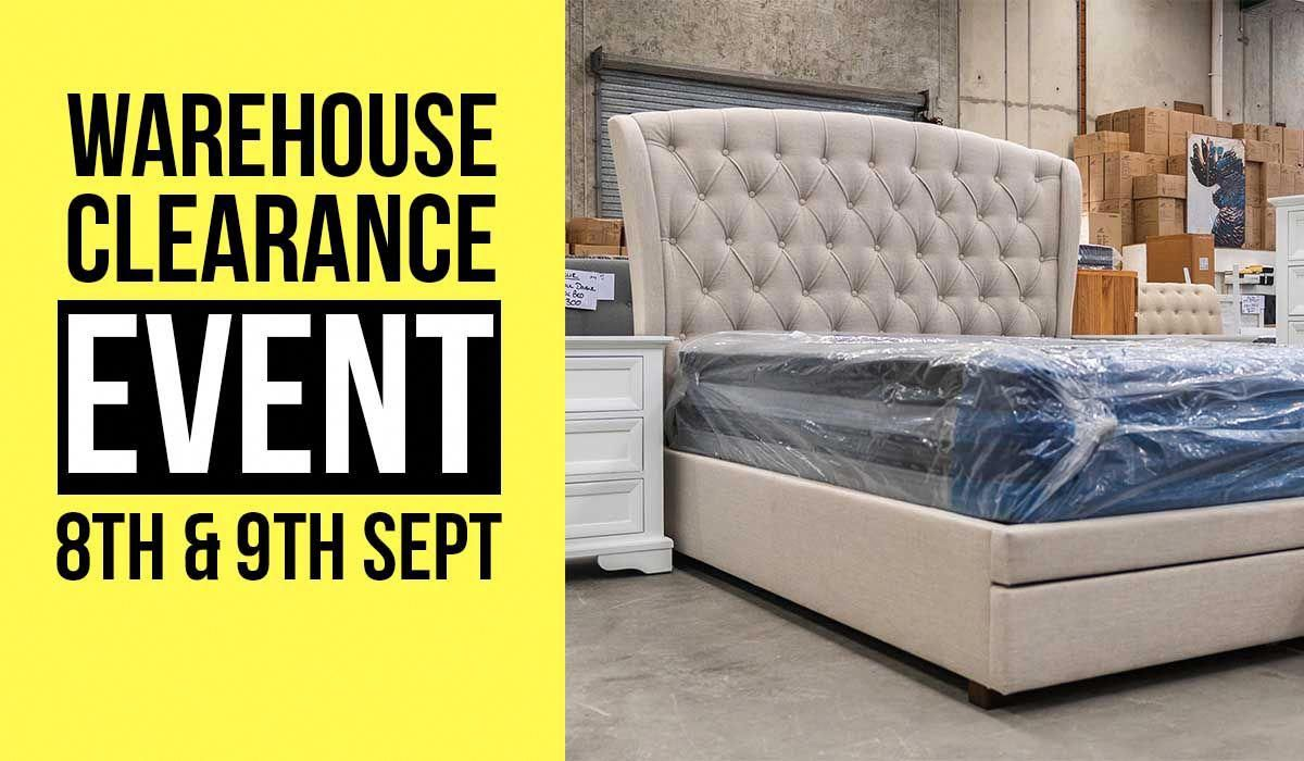 Sign up now for next clearance event warehouse fc introduces next furniture clearance sale on 8th 9th sept clearancefurniture