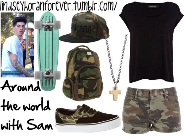 """""""Around the world with Sam"""" by lindseysears on Polyvore"""