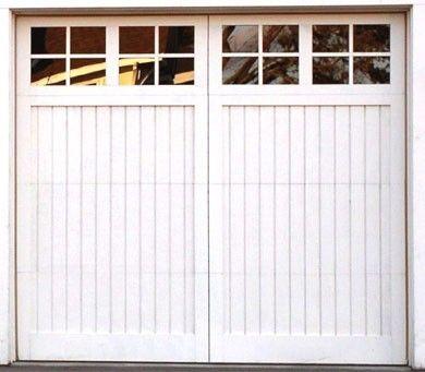 Bradford - Carriage Design Wood Garage Door with Glass  sc 1 st  Pinterest & Bradford - Carriage Design Wood Garage Door with Glass   Single ... pezcame.com