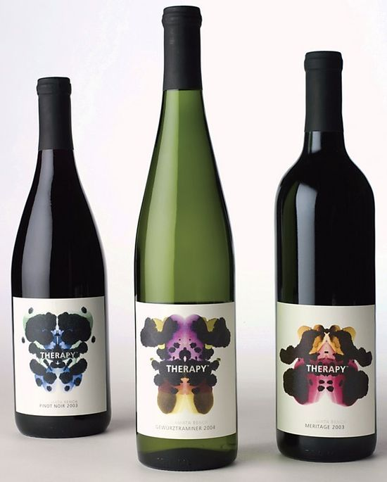 Therapy Vineyards Wine, Wine label design and Wine design - wine label