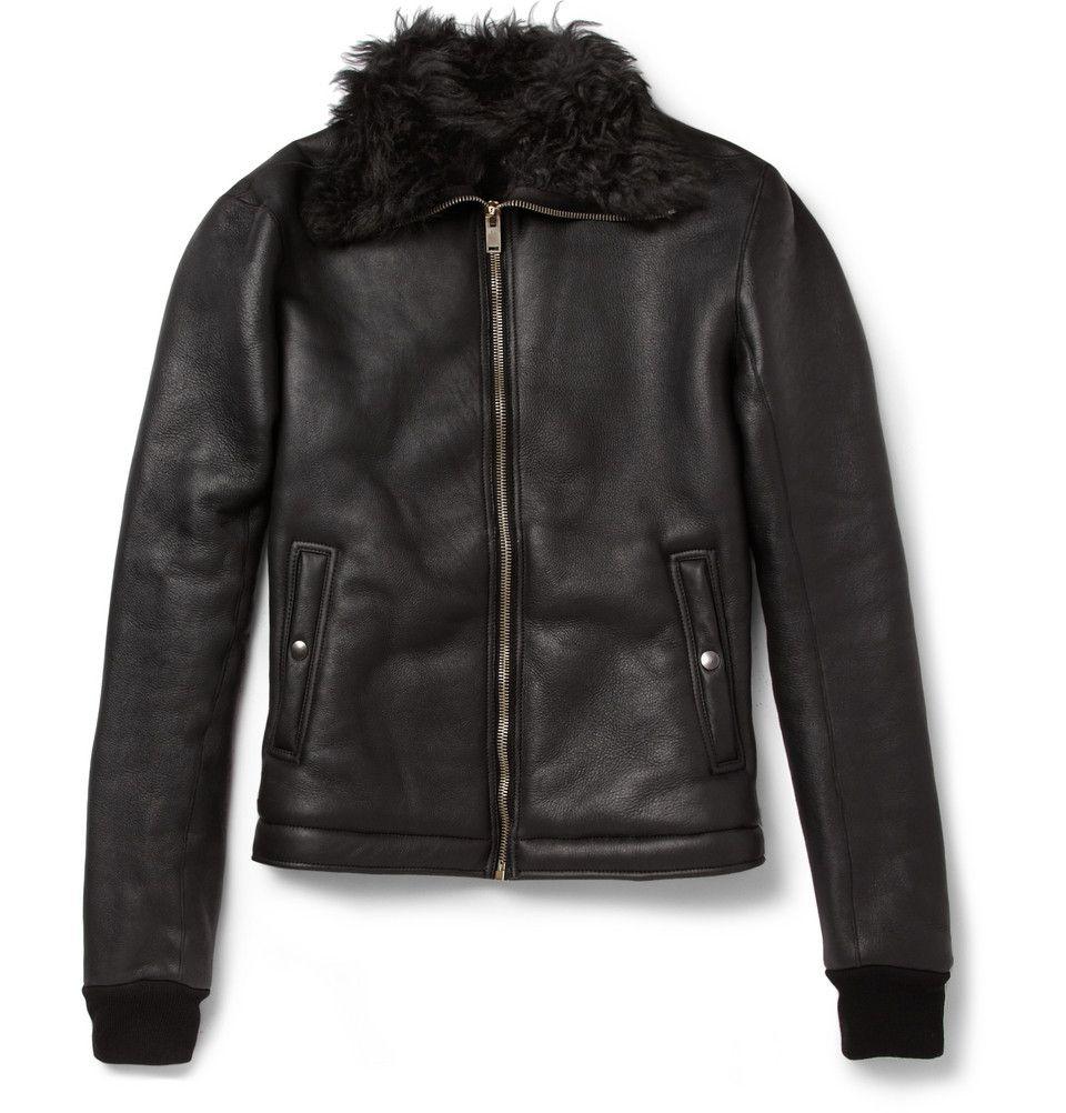 Rick Owens Shearling Lined Leather Bomber Jacket Designer Leather Jackets Mens Leather Coats Jackets [ 1002 x 960 Pixel ]