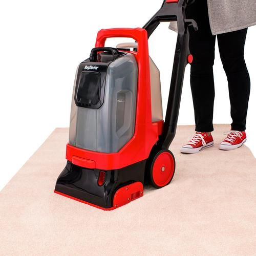 Rug Doctor Pro Deep Canister Vacuum Black Red Smoke Grey Carpet Cleaners Rug Doctor Deep Carpet Cleaning