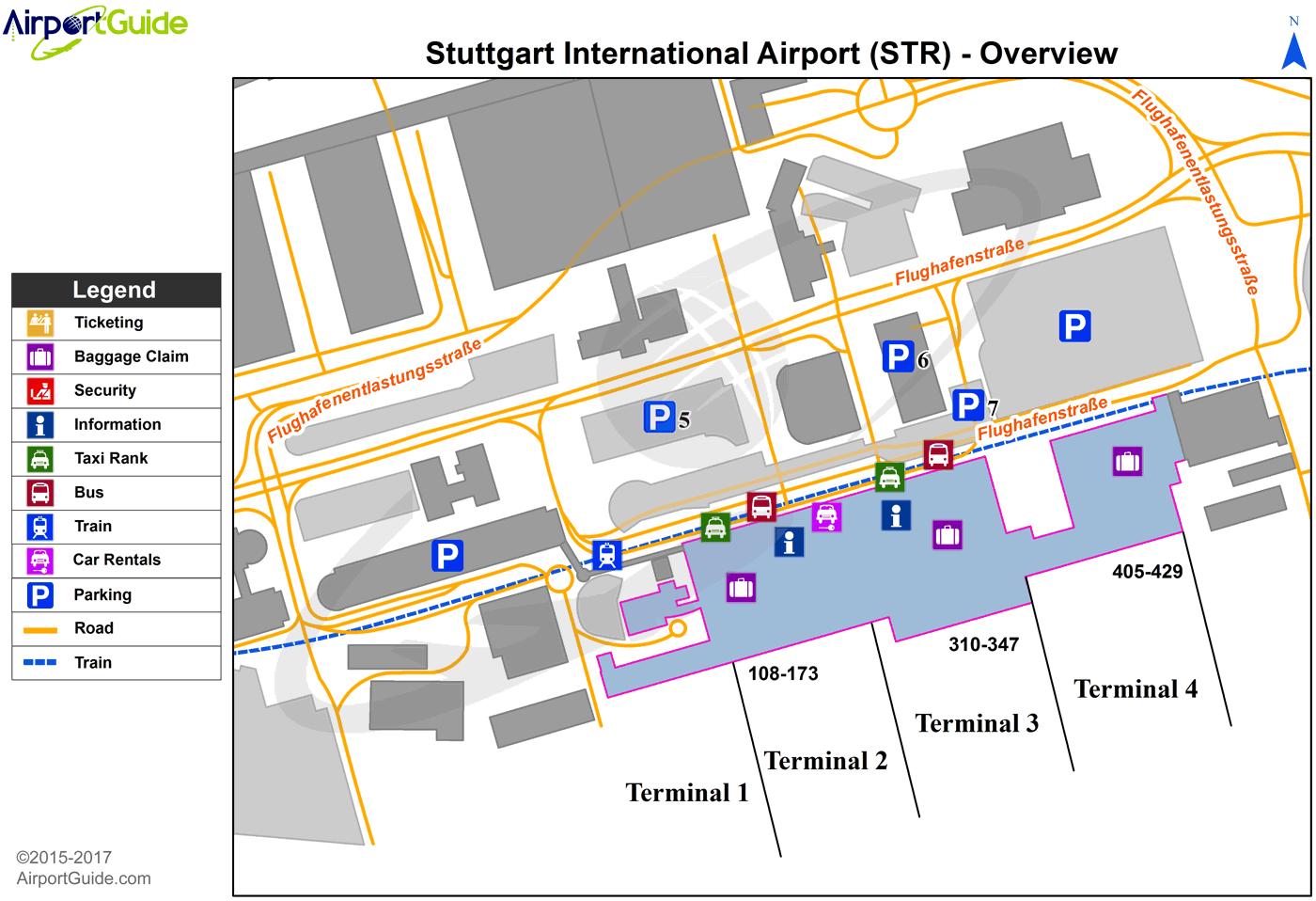 Stuttgart Stuttgart Str Airport Terminal Map