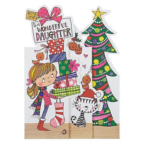Rachel Ellen Wonderful Daughter Christmas Card   Christmas cards, Cards, Christmas