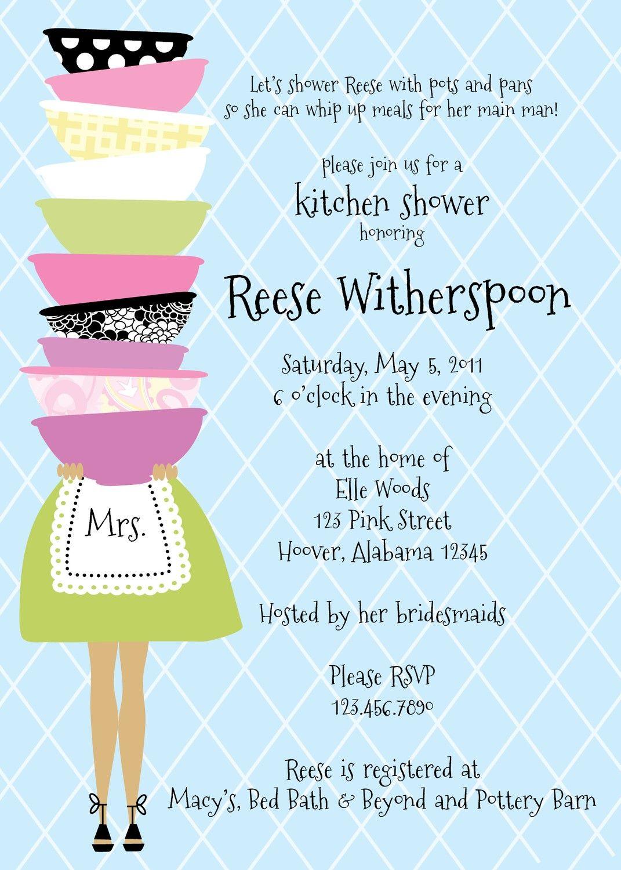Stacked Bowl Kitchen Shower Invitation. $12.00, via Etsy. | Bridal ...