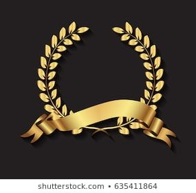 Photo of Imagens, fotos stock e vetores similares de rasterized greece column and gold laurel wreath illustration. bitmap of vector version. see for vector version in my portfolio – 144786886
