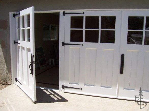 3 Carriage Doors Enclose A Newly Remodeled Studio Exercise