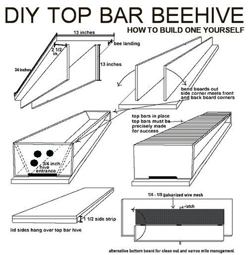 Etonnant How To Build Your Own DIY Top Bar Beehive | Top Bar Hive, Bees And  Beekeeping