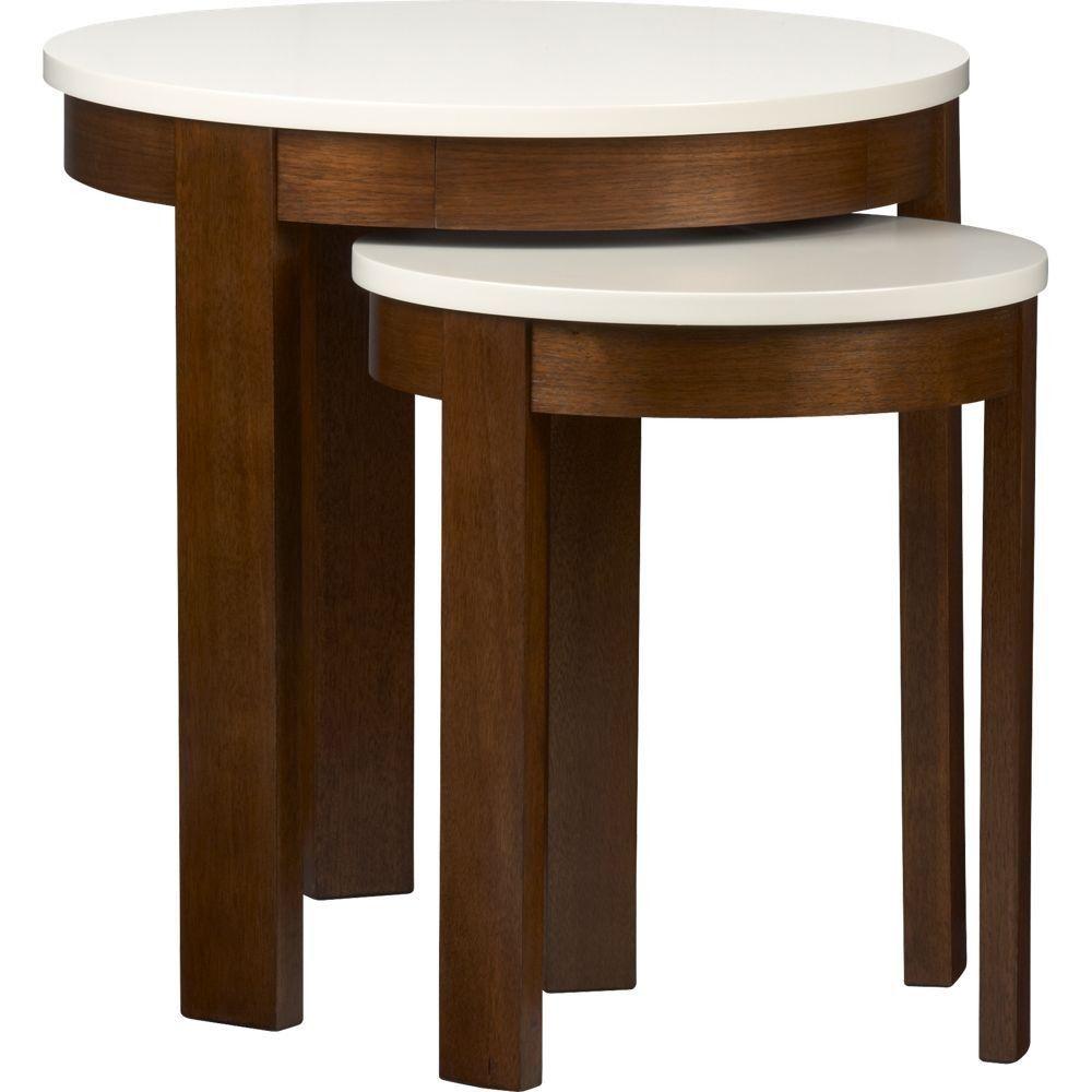 Set Of 2 Pastis Nesting Side Tables Crate Barrel Side Table