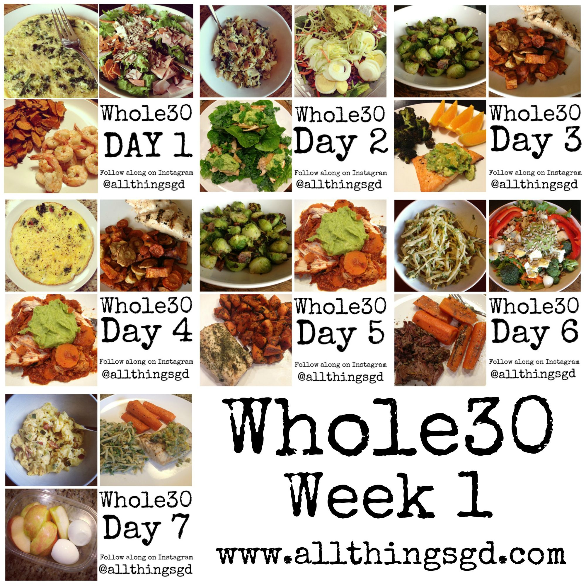 A week's worth of Whole30 meals and recipes www